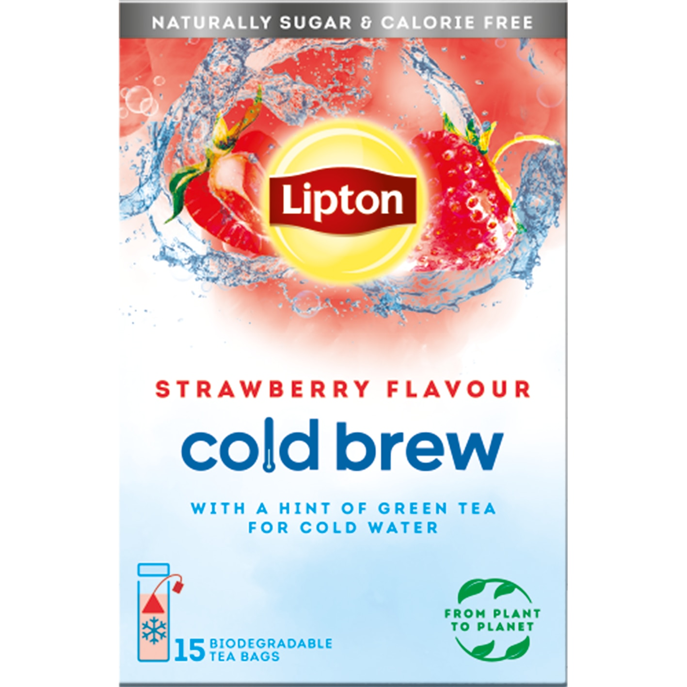 Lipton Cold Brew: Strawberry with Green Tea