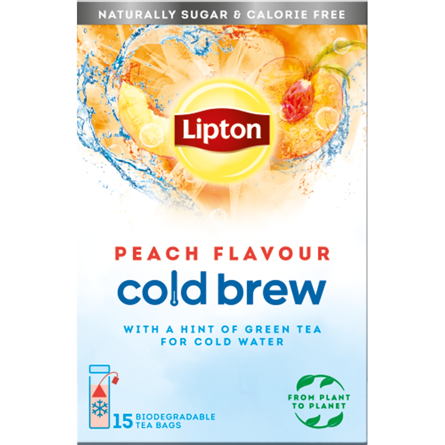 Lipton Cold Brew UK Peach Pack Shot